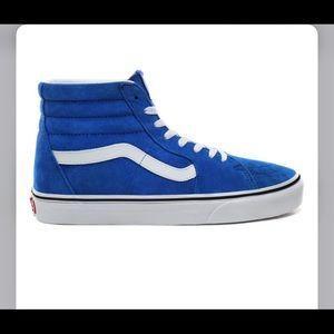 Vans blue suede high tops sz 7 new